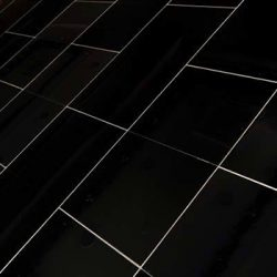 Dance Floors Plain Black Gloss