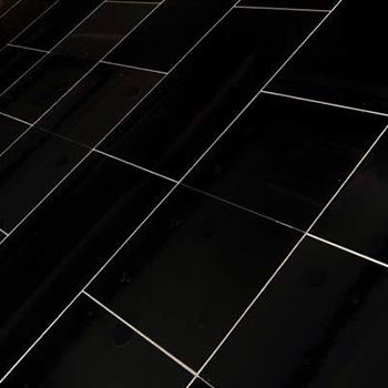 Dance Floors Plain Black Gloss