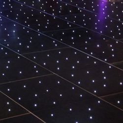 Black LED Starlight Dance Floors