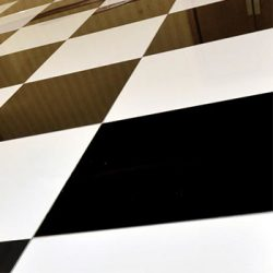 Dance Floors Black and White Chequered
