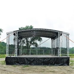 Small Trailer Stage 5 metre x 6 metre Arc Roof
